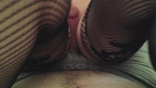 POV Wife in Lingerie Pussy Job w/ huge cumshot
