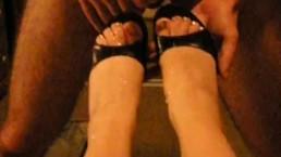 ex gf cum on heels