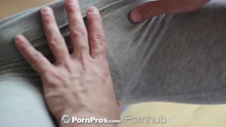 HD PornPros - Kasey Warners workout interrupted by the need for raw sex Young blonde