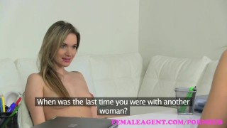 FemaleAgent. Beautiful bisexual blonde seduces the horny agent  strap on doggy style hd audition amateur blonde tattoo casting office lesbian czech babes orgasm interview pussy licking girl on girl femaleagent