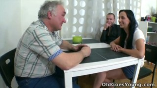 Old Goes Young - What starts as an innocent visit soon turns out to be Rough tits