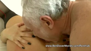 English milf gags on ben Dovers Cock Avn tattoo
