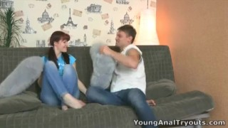 Young Anal Tryouts - Stefany is learning anal sex