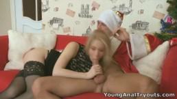Молодой Анальный Кастинг - Оксана красивая блондинка