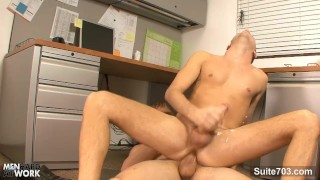 Kinky gays screwing in the office Gay cock