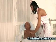 Black Angelica: Busty Euro Nurse Having Sex With Patient
