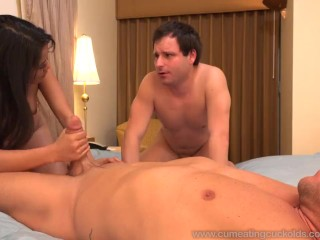 Angelina Chung Fucked While Cuckolding Her Sissy Husband