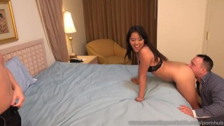 Angelina Chung Fucked While Cuckolding Her Sissy Husband  masturbation cuckold dildo wife asian husband blowjob cuck fetish bisexual cumeatingcuckolds vibrator facial cock sharing