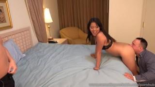 Angelina Chung Fucked While Cuckolding Her Sissy Husband  masturbation cuckold dildo wife asian husband blowjob cuck fetish cock sharing bisexual cumeatingcuckolds vibrator facial