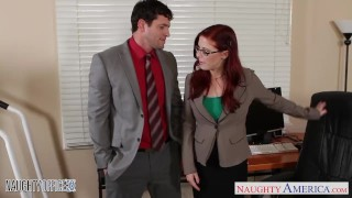Preview 1 of Redhead cutie in glasses Penny Pax fuck in the office