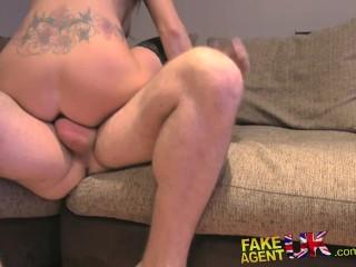 FakeAgentUK Sex toys bondage and anal in hardcore amateur casting
