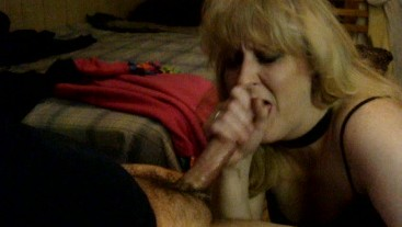 BLOND TENANT GETS EXTREME THROAT-FUCK FROM LANDLORD TO PAY BACK RENT