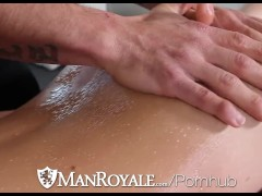 HD ManRoyale - Dick massage and loads of cum of his face
