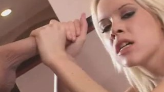 Handjob Hunny Makes It Explode  masturbation amateur mom blonde cumshot handjob real tug girls mother hj stroke theartofhandjobs jerky art jerk off