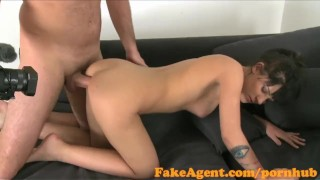 Spunked babe and haired office fucked in raven over hard hot fakeagent sex cum