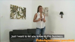 FakeAgent Tanned amateur with amazing body takes first time Creampie  audition fakeagent office-sex homemade couch amateur real office shaved oral-sex cumshot pov reality casting interview point-of-view