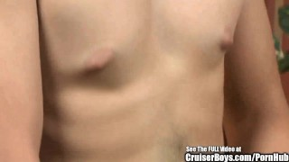 Hot Goatee Guy Jerking Off and Jizzing