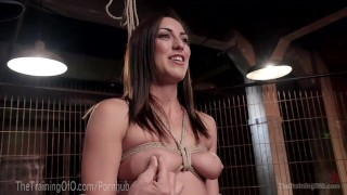Rilynn Rae Learns How To Take Pain Raw brunette