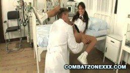 Melanie Memphis - Euro SchoolGirl Screwed By The School Doctor