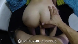 HD FantasyHD - Hot babe Dani Daniels fucks guy at strip club Doggystyle reverse