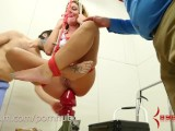 Savannah Fox gets hard anal fuck before being dropped onto giant butt plug