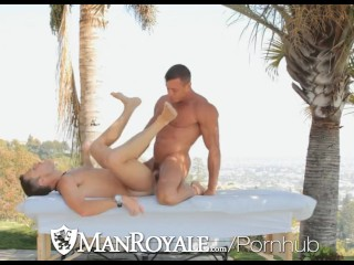 HD ManRoyale - Hunks Boston and Tyler get hardcore in the sun