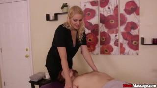 Gagged And Teased  big cock teasing femdom blonde amateur punishment meanmassages massage handjob happy ending oil bondage rub and tug