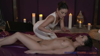 Preview 2 of Massage Rooms Young lesbians have intense oral fun before loud orgasms