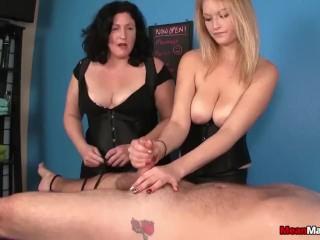 The Most Beautiful Labia Fucking, Tag-Team Domination Massage Handjob