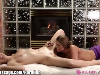 AllGirlMassage Amanda Cheats with Lesbian Masseuse