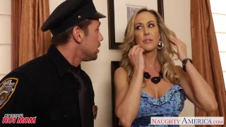 Busty moms Brandi Love, Eva Karera and Julia Ann suck cock Bubble brunette