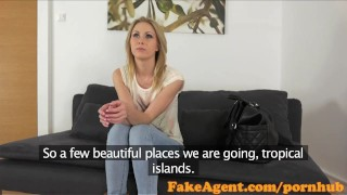 Preview 1 of FakeAgent Horny blonde amateur loves big cock up her ass in Casting