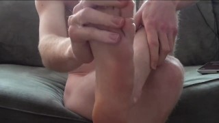Some get them on cum feet my lotion ejaculation
