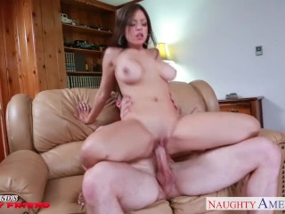 Best Petite Tube Busty brunette gf Yurizan Beltran gets nailed
