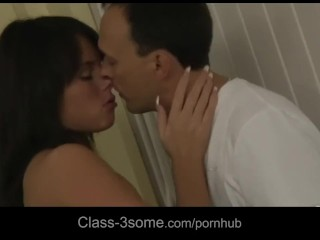 Melanie and Abelia intense fuck in lovely threesome adventure