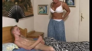 Caught over stepson her porn grandma busty masturbating facial mother