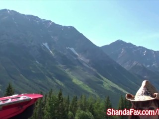 Self Tit Play Good Outdoors Canadian Fun With An Amateur Busty Milf Shanda Fay! Blowjob