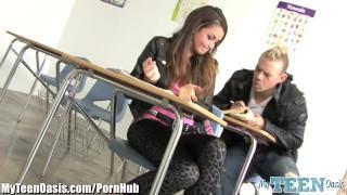MyTeenOasis Horny Schoolgirl gets a Facial Small brunette