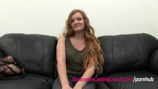 Preview 3 of Teen Redhead 1st Anal, Ambush Creampie Casting