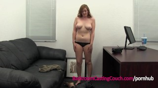Preview 5 of Teen Redhead 1st Anal, Ambush Creampie Casting
