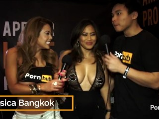 PornhubTV Jessica Bangkok Interview at 2015 AVN Awards
