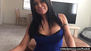 Big Tit Mexican Gabby Quinteros Big Dick POV Doggy strap