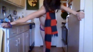 Dancing With His Scarf