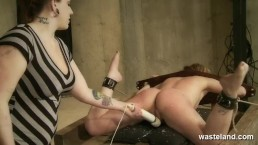 Female slave brought to orgasm as she is flogged by her Mistress