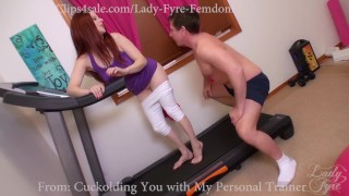 Cuckold and Encouraged Bi Sampler by Lady Fyre  cuckold humiliation redhead encouraged-bi femdom nylon gym kink hairy-pussy olivia-fyre joi lady-fyre bisexual-cuckold big-dick personal-trainer cheating wife