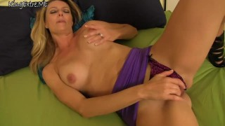 Brenda James - Jacking off for my step mom, the porn star Blonde big