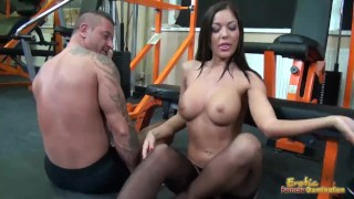 Tits smothering femdom with busty Angelica Heart  kink bubble butt female friendly raven femdom hungarian