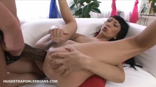 Leila gets anal gaped by Kate with a huge strapon dildo  strap on lesbian anal gape lesbian strap on strapon dildo asian anal anal gape dildo ride asian anal ass to mouth hugestraponlesbians brutal dildo huge dildo lesbian strapon extreme insertion