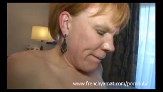 two cocks for a horny french mature Cowgirl amateur