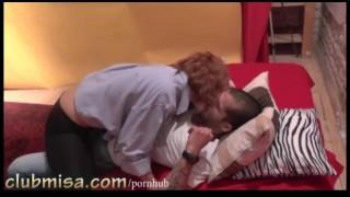 Redhead MILF Misa fucks hard with her toyboy